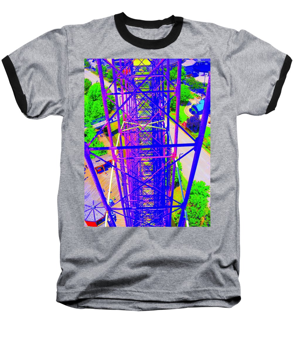 Still Life Baseball T-Shirt featuring the photograph On Top Of The World by Ed Smith