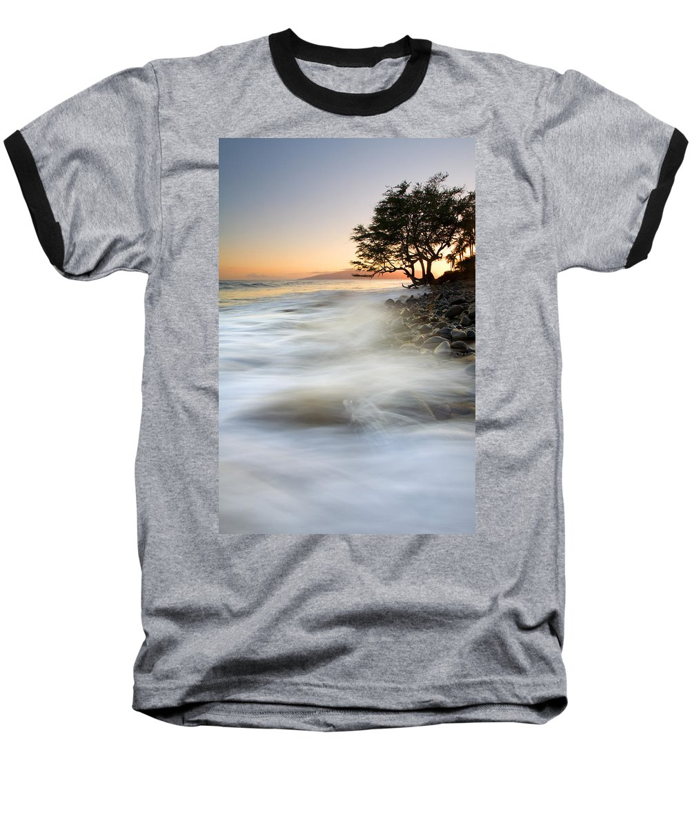 Sunset Baseball T-Shirt featuring the photograph One Against The Tides by Mike Dawson