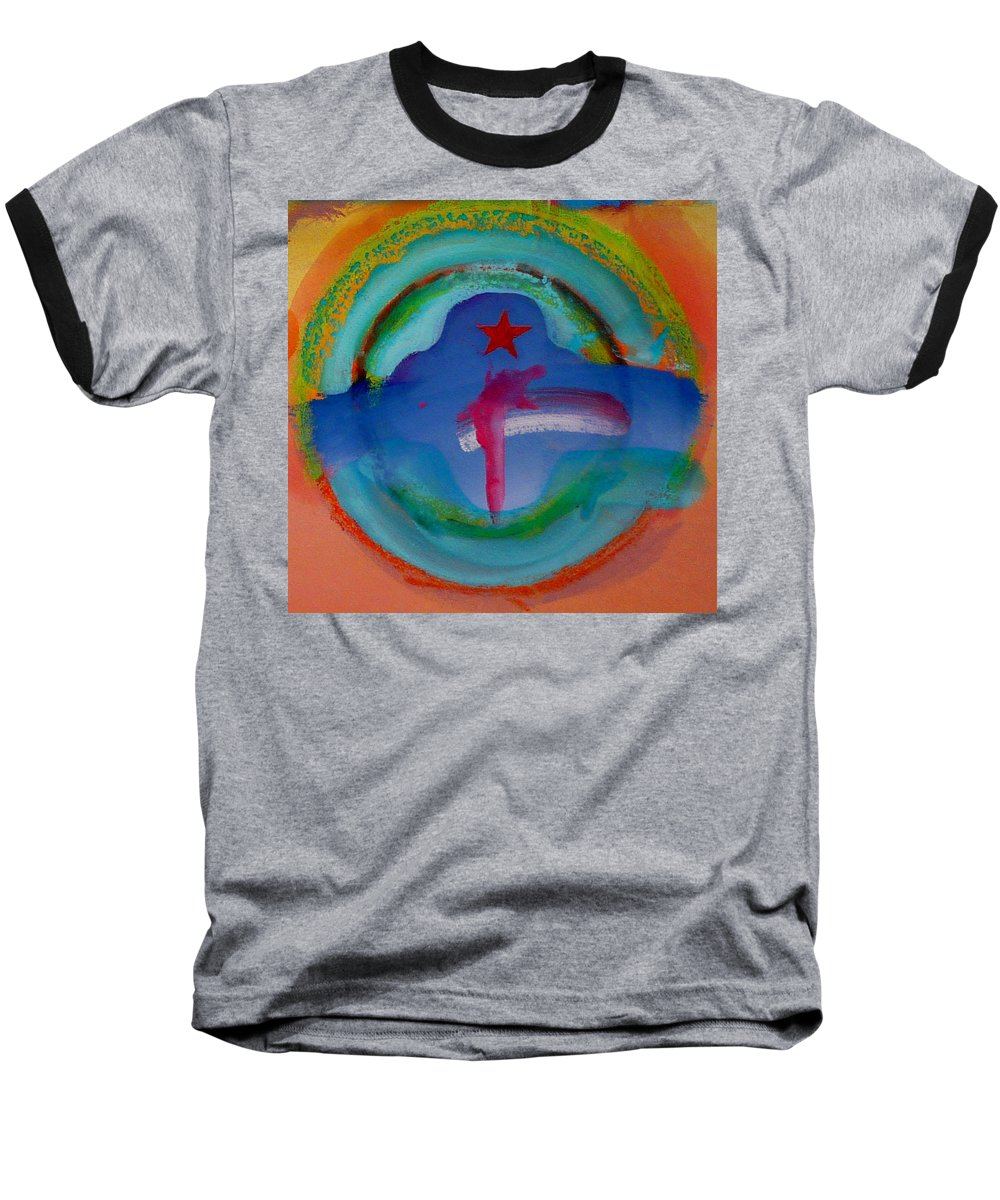Logo Baseball T-Shirt featuring the painting one by Charles Stuart