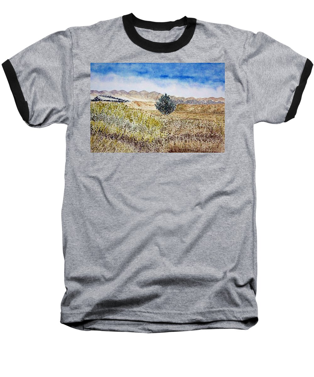 Desert Art Baseball T-Shirt featuring the painting Onyo National Forest by Larry Wright