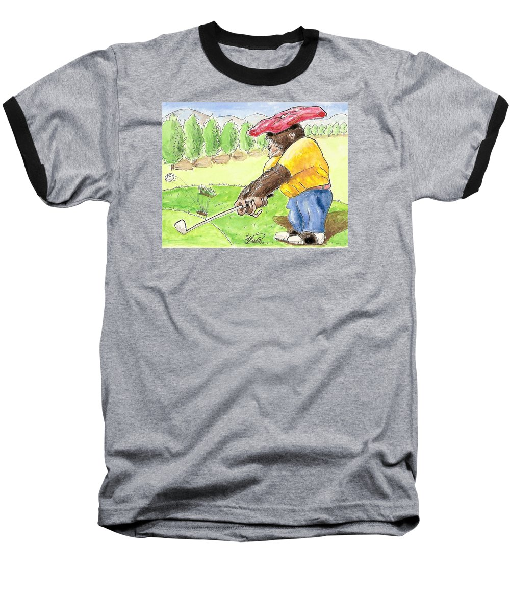 Golf Baseball T-Shirt featuring the painting Oops by George I Perez