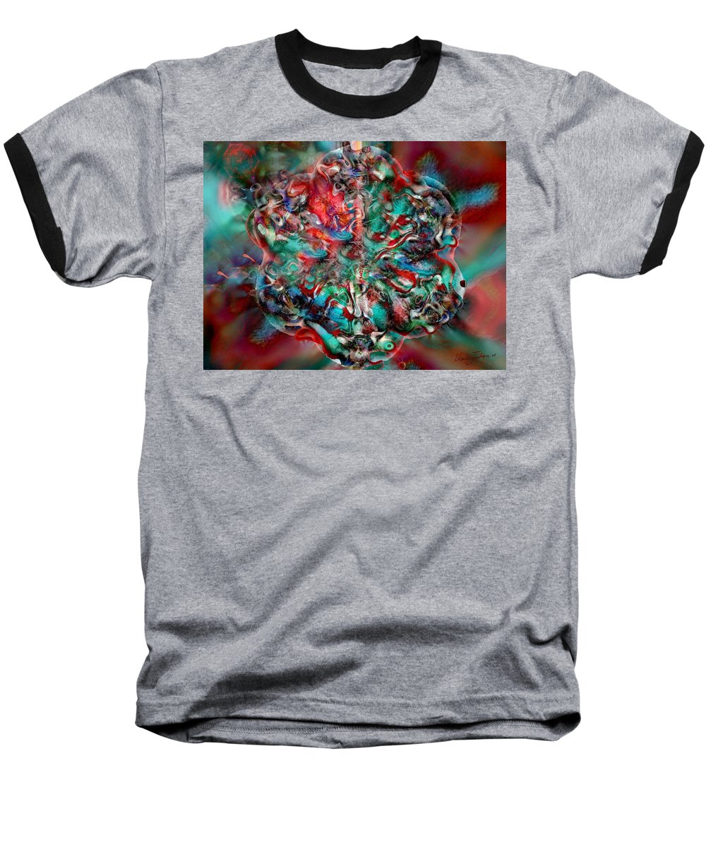 Heart Passion Life Baseball T-Shirt featuring the digital art Open Heart by Veronica Jackson