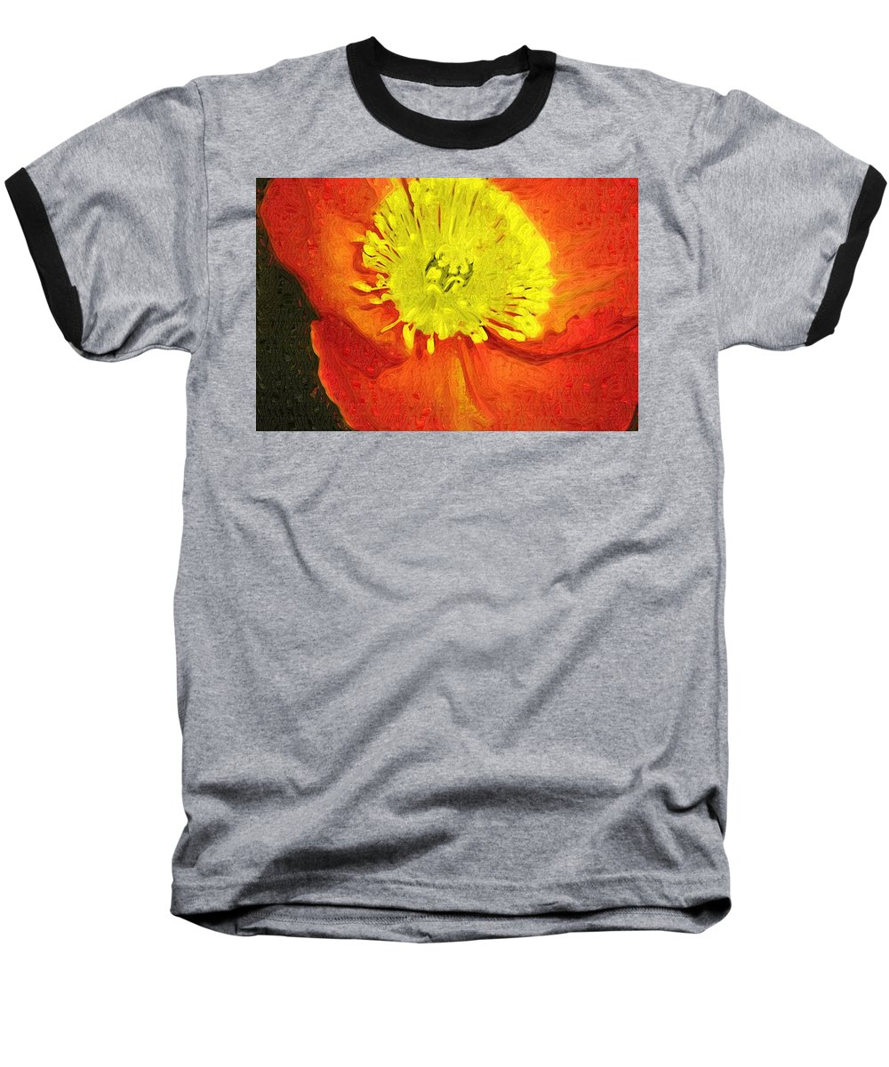 Poppy Baseball T-Shirt featuring the photograph Orange Poppy by Donna Bentley