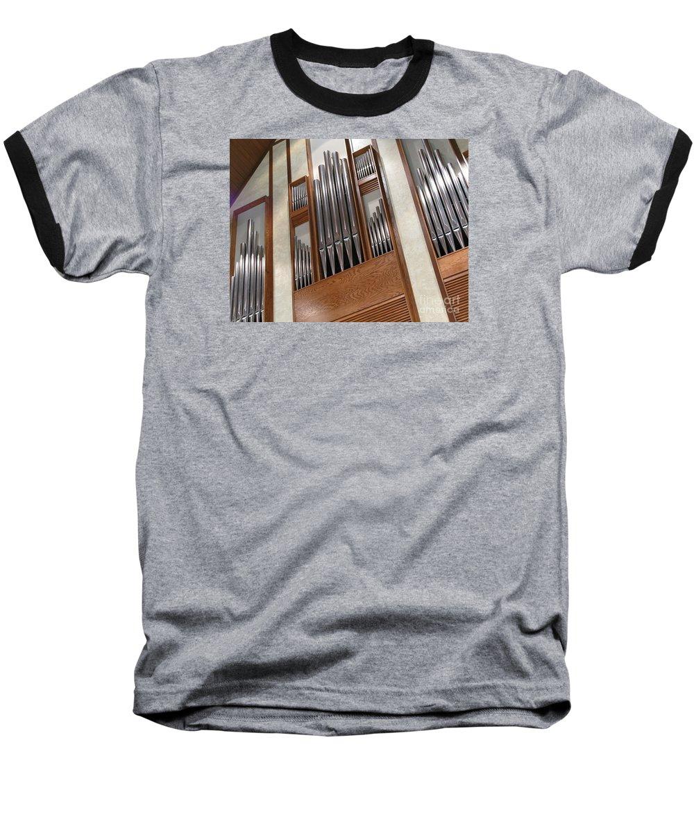 Music Baseball T-Shirt featuring the photograph Organ Pipes by Ann Horn
