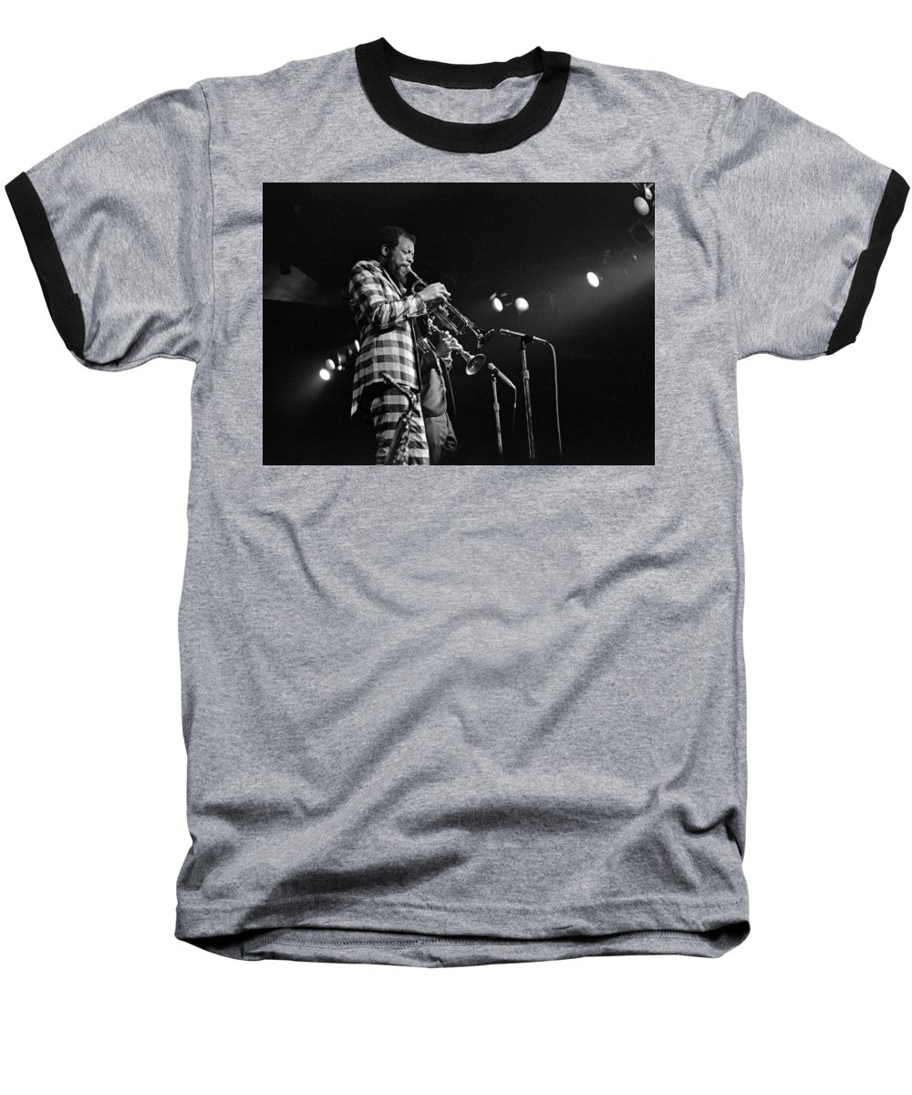 Ornette Colman Baseball T-Shirt featuring the photograph Ornette Coleman On Trumpet by Lee Santa