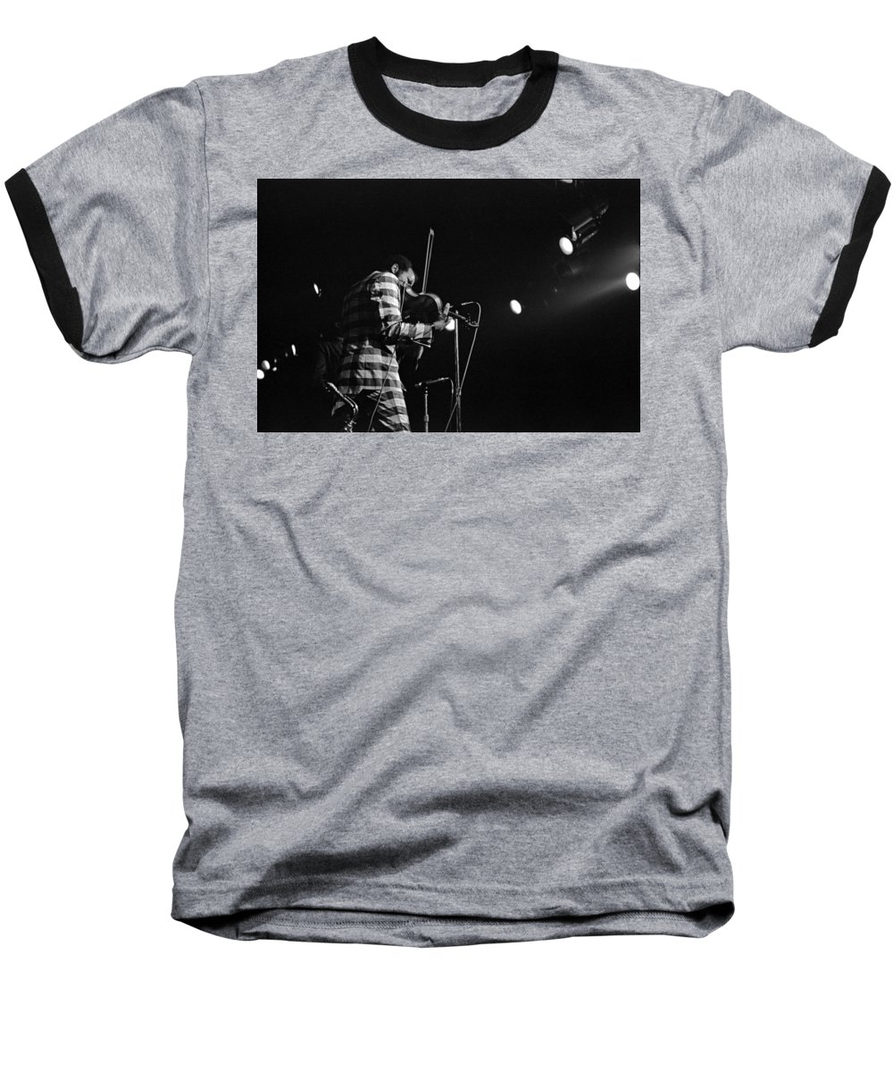Ornette Coleman Baseball T-Shirt featuring the photograph Ornette Coleman On Violin by Lee Santa