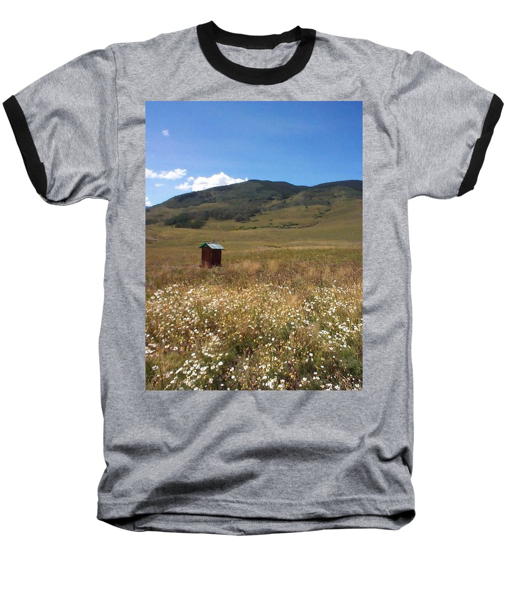 Charity Baseball T-Shirt featuring the photograph Out House by Mary-Lee Sanders