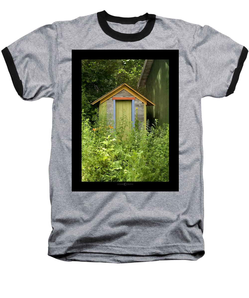 Outhouse Baseball T-Shirt featuring the photograph Outhouse by Tim Nyberg