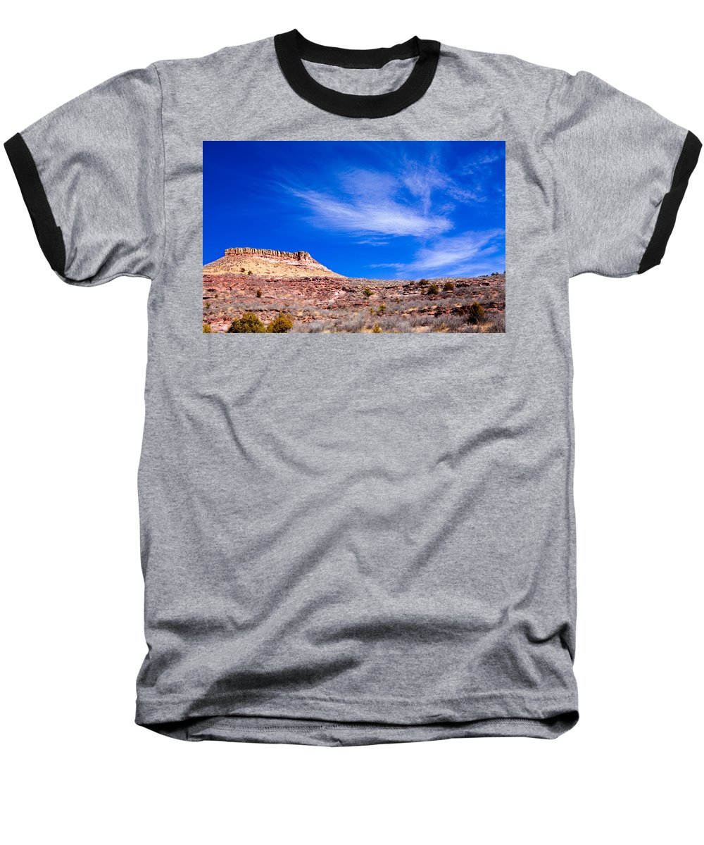 Red Baseball T-Shirt featuring the photograph Outside Lyons Colorado by Marilyn Hunt
