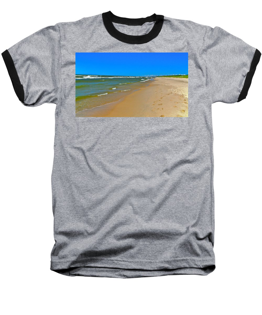 Sand Baseball T-Shirt featuring the photograph Oval Park In The Sun by Robert Pearson