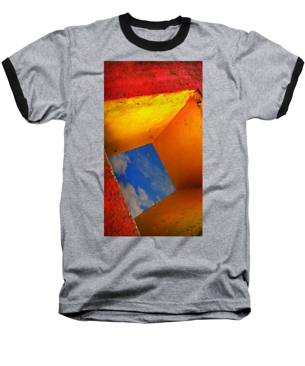 Skip Hunt Baseball T-Shirt featuring the photograph Over The Rainbow by Skip Hunt