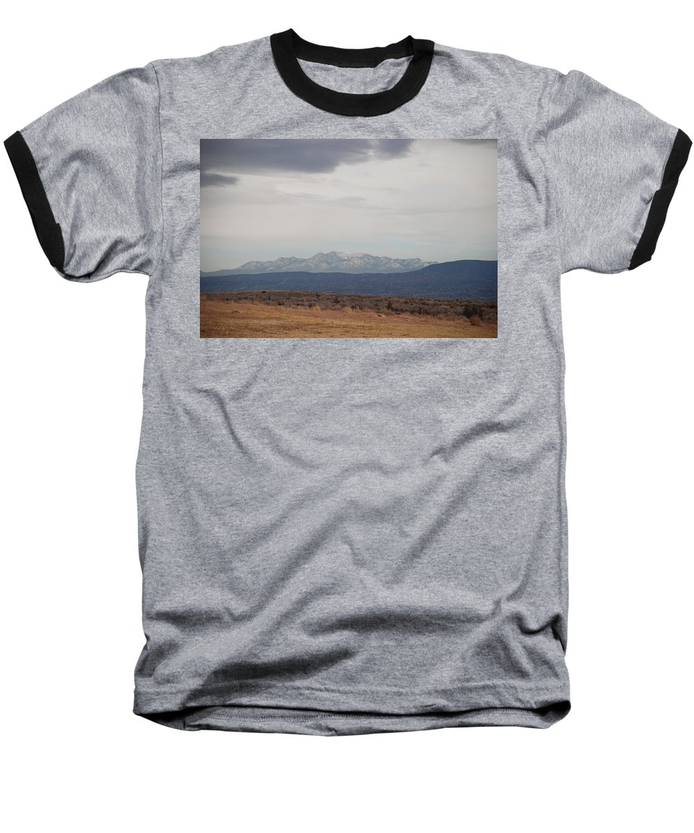 Mountains Baseball T-Shirt featuring the photograph Overcast On The Sandias by Rob Hans