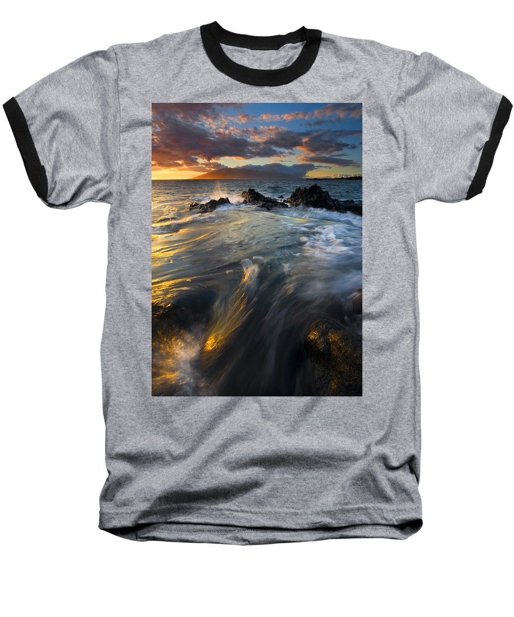 Cauldron Baseball T-Shirt featuring the photograph Overflow by Mike Dawson