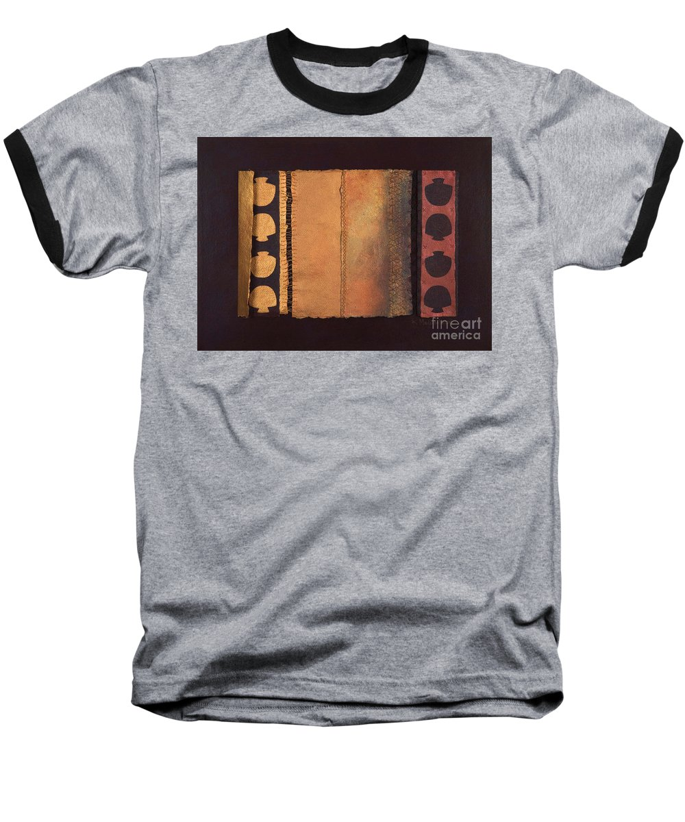 Artistbook Baseball T-Shirt featuring the painting Page Format No.4 Tansitional Series by Kerryn Madsen-Pietsch