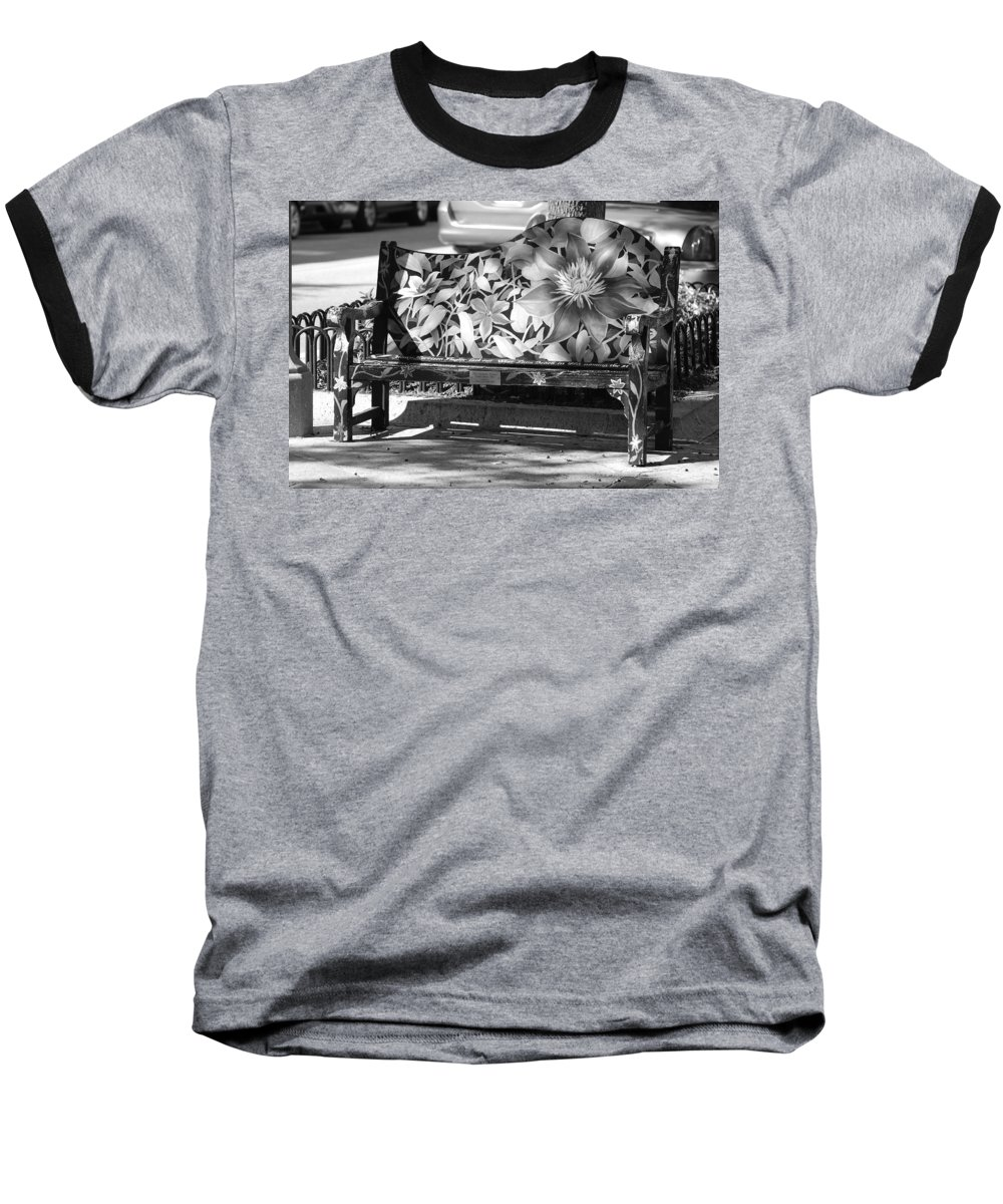 Pop Art Baseball T-Shirt featuring the photograph Painted Bench by Rob Hans