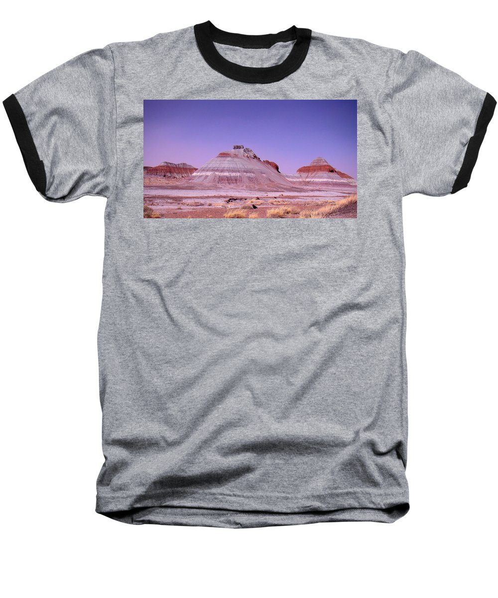 Painted Desert Baseball T-Shirt featuring the photograph Painted Desert Tepees by Merja Waters