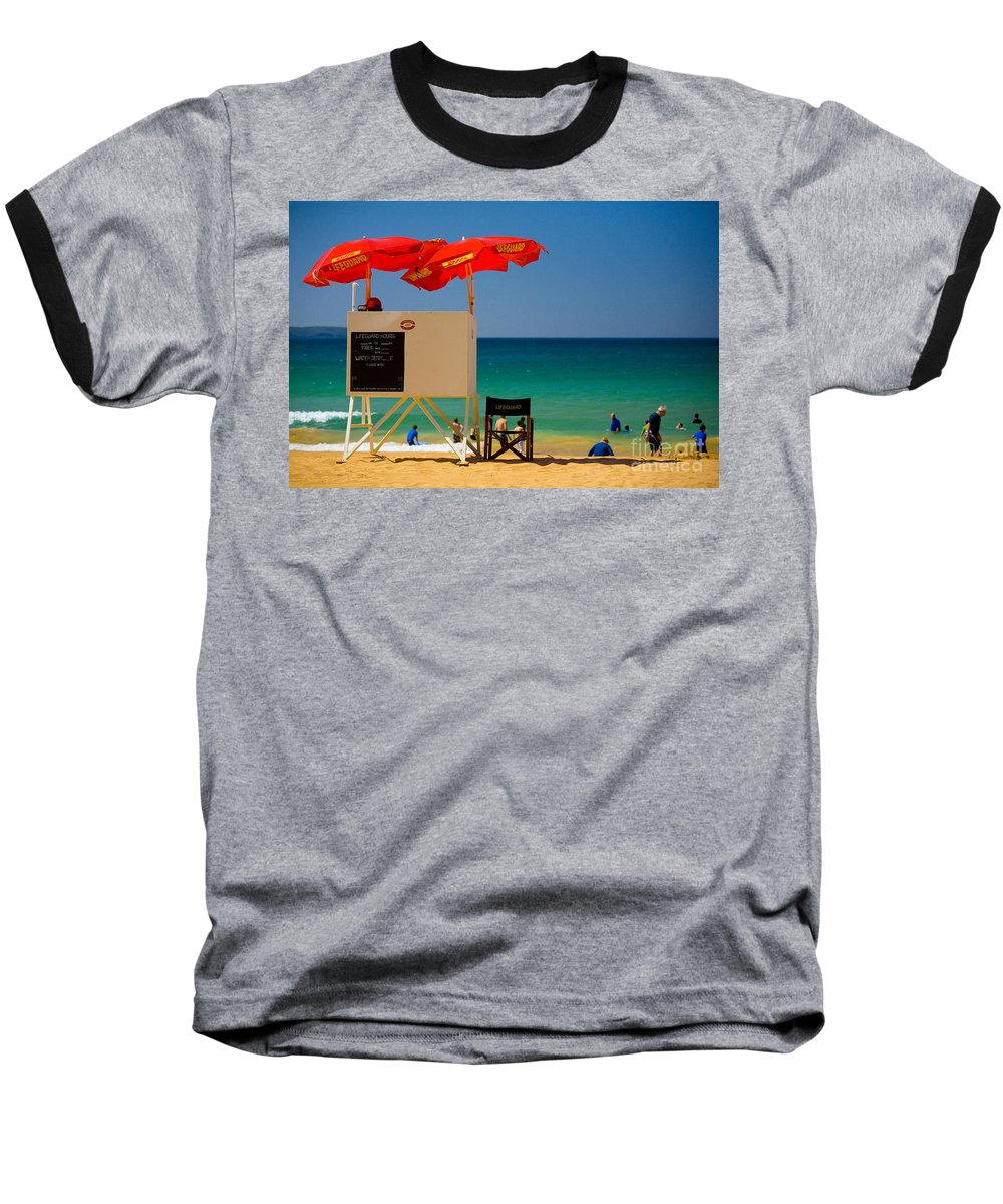 Palm Beach Sun Sea Sky Beach Umbrellas Baseball T-Shirt featuring the photograph Palm Beach Dreaming by Avalon Fine Art Photography