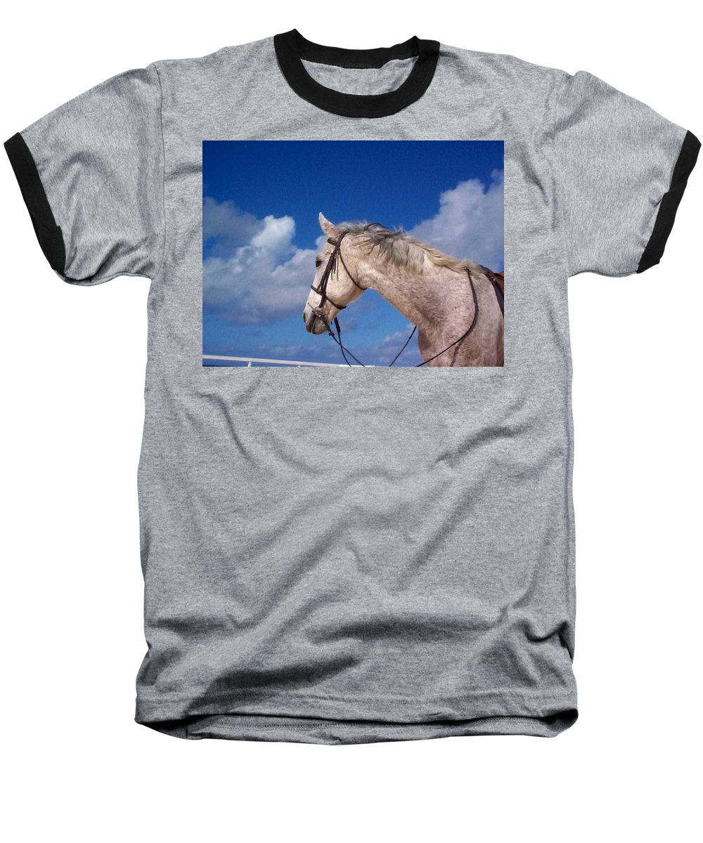 Charity Baseball T-Shirt featuring the photograph Pancho by Mary-Lee Sanders