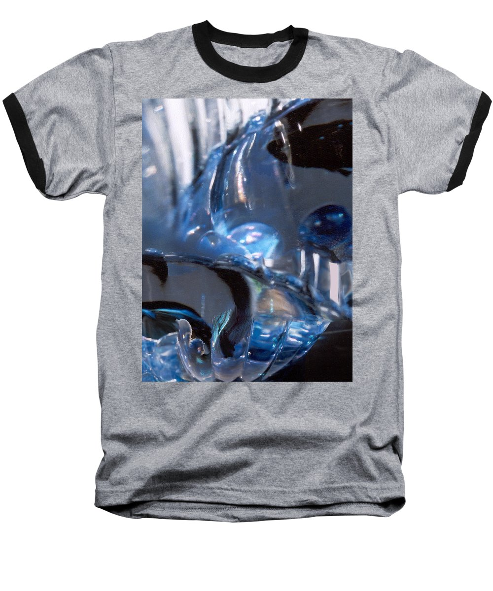 Glass Baseball T-Shirt featuring the photograph Panel 2 From Swirl by Steve Karol