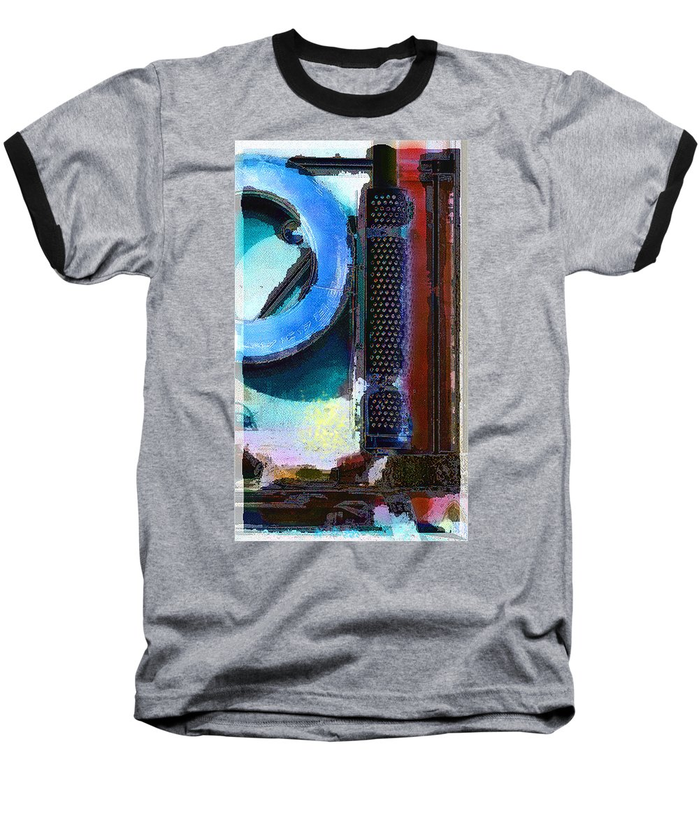 Abstract Baseball T-Shirt featuring the photograph panel one from Centrifuge by Steve Karol