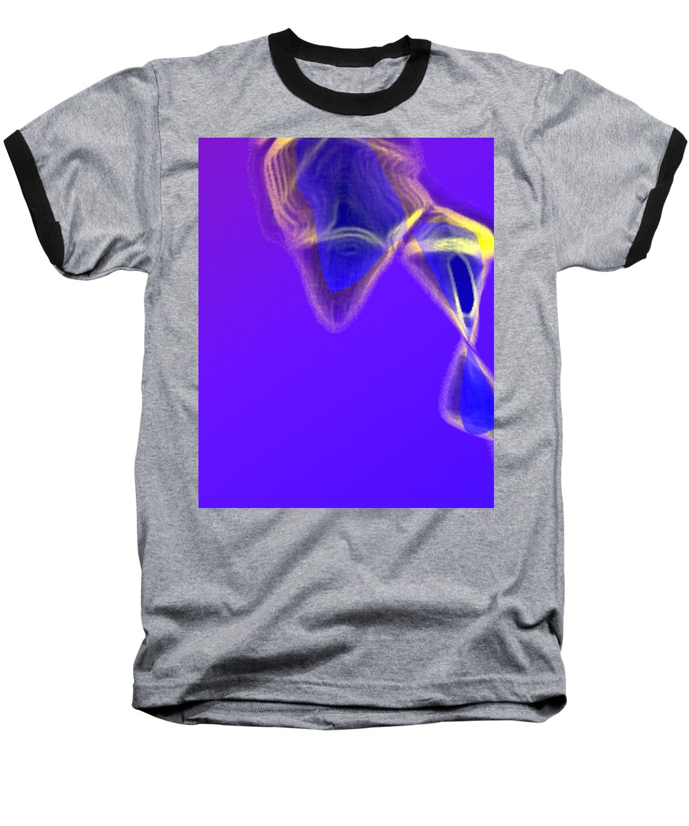 Abstract Baseball T-Shirt featuring the digital art Panel One From Movement In Blue by Steve Karol