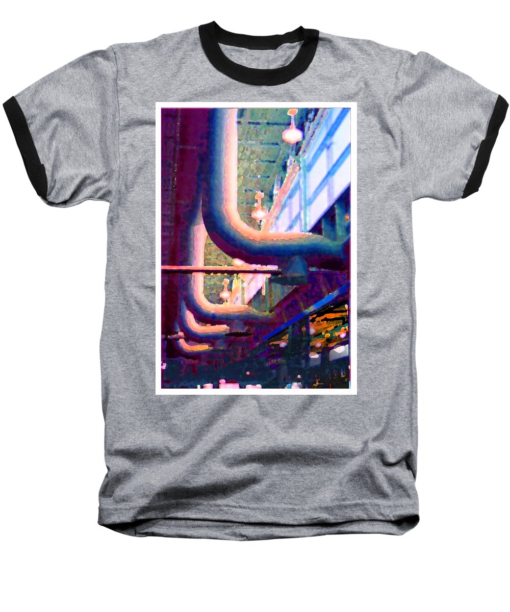 Abstract Baseball T-Shirt featuring the photograph panel one from Star Factory by Steve Karol