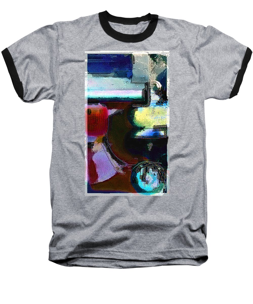 Abstract Baseball T-Shirt featuring the photograph panel two from Centrifuge by Steve Karol
