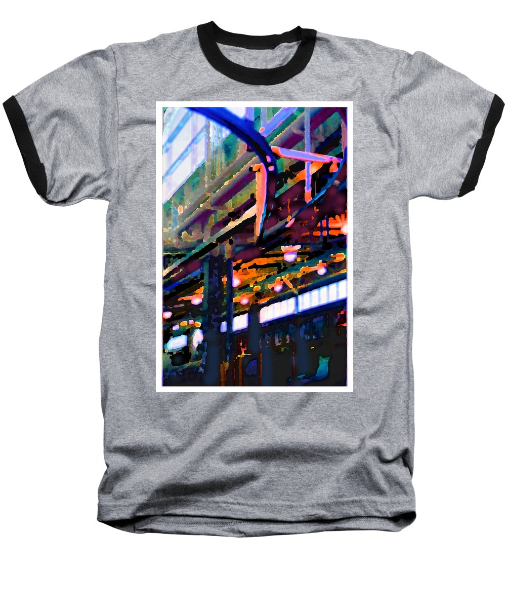 Abstract Baseball T-Shirt featuring the photograph panel two from Star Factory by Steve Karol
