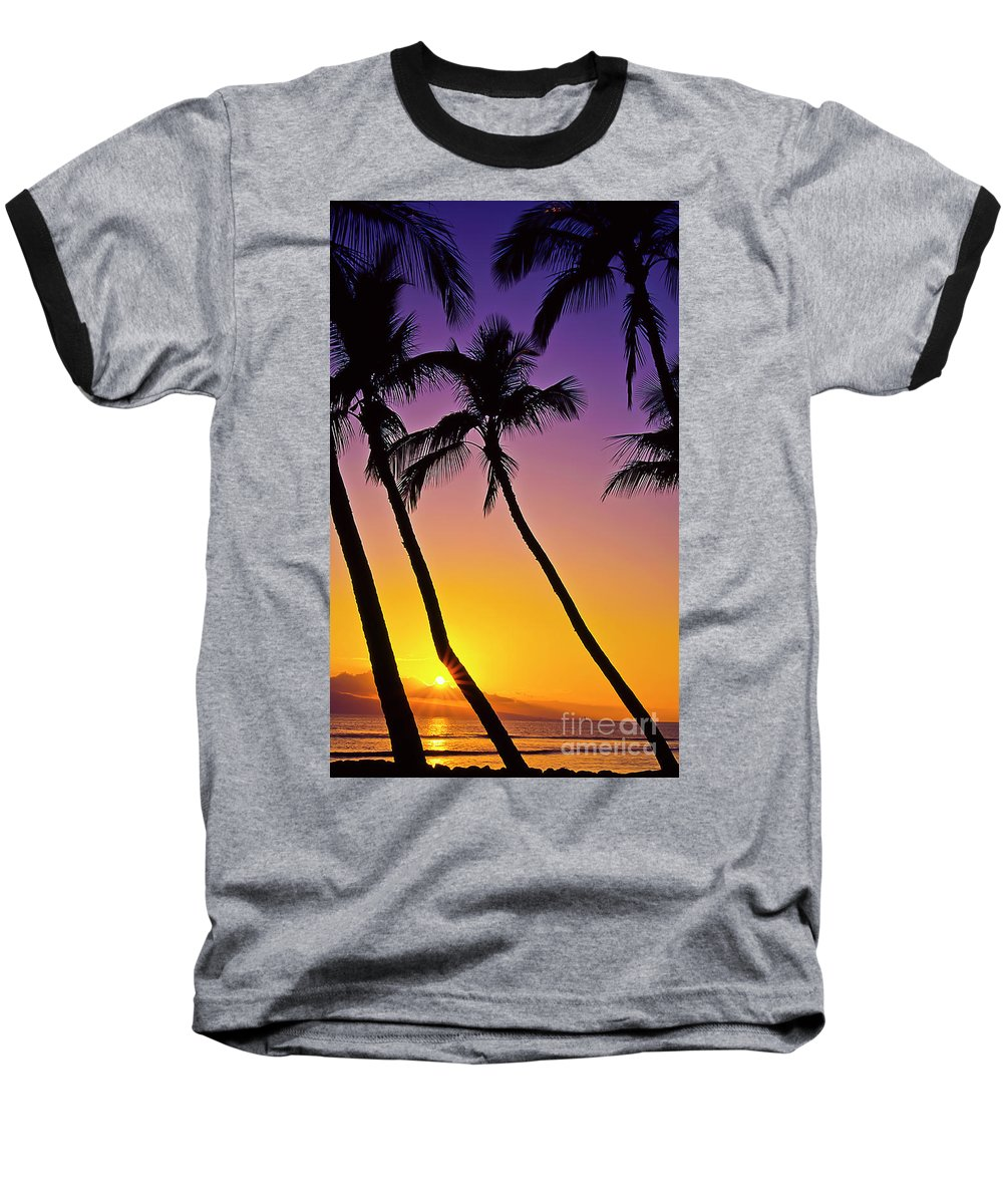 Sunset Baseball T-Shirt featuring the photograph Paradise by Jim Cazel