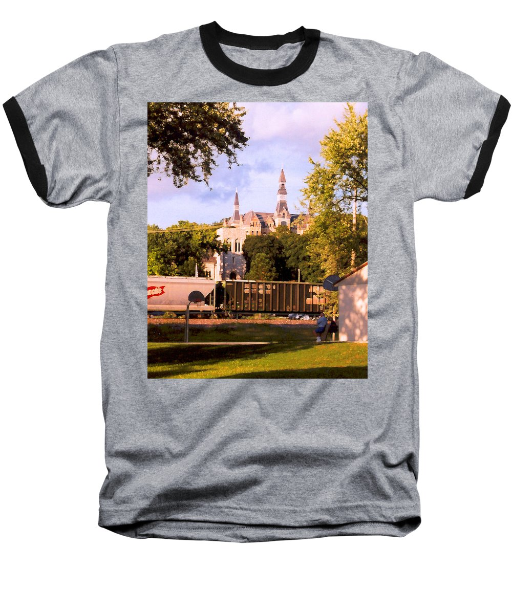 Landscape Baseball T-Shirt featuring the photograph Park University by Steve Karol