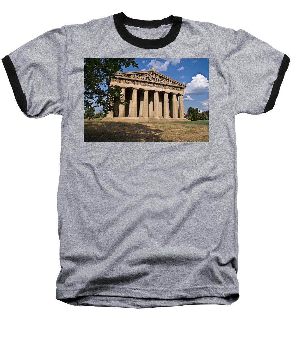 Parthenon Baseball T-Shirt featuring the photograph Parthenon Nashville Tennessee by Douglas Barnett