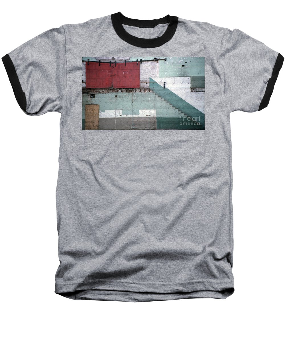 Abstract Baseball T-Shirt featuring the photograph Partial Demolition by Richard Rizzo
