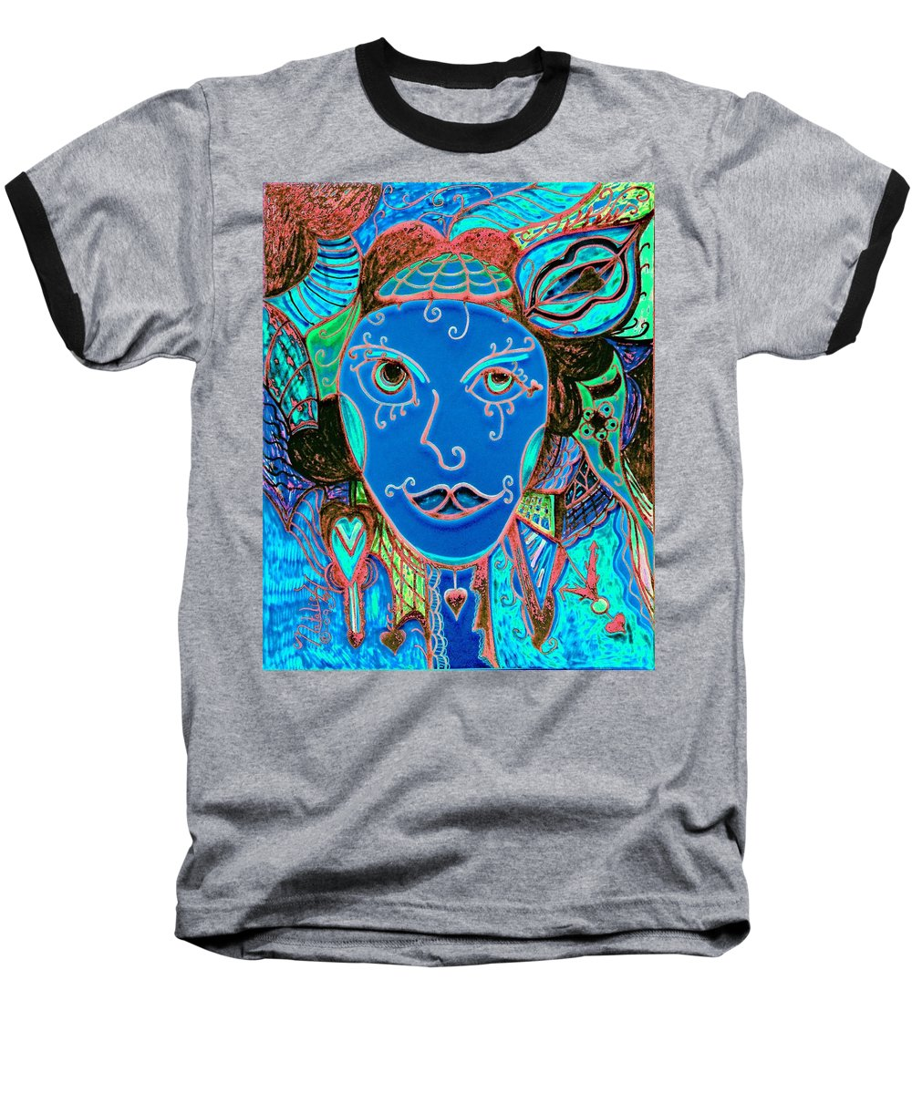 Party Girl Baseball T-Shirt featuring the painting Party Girl by Natalie Holland