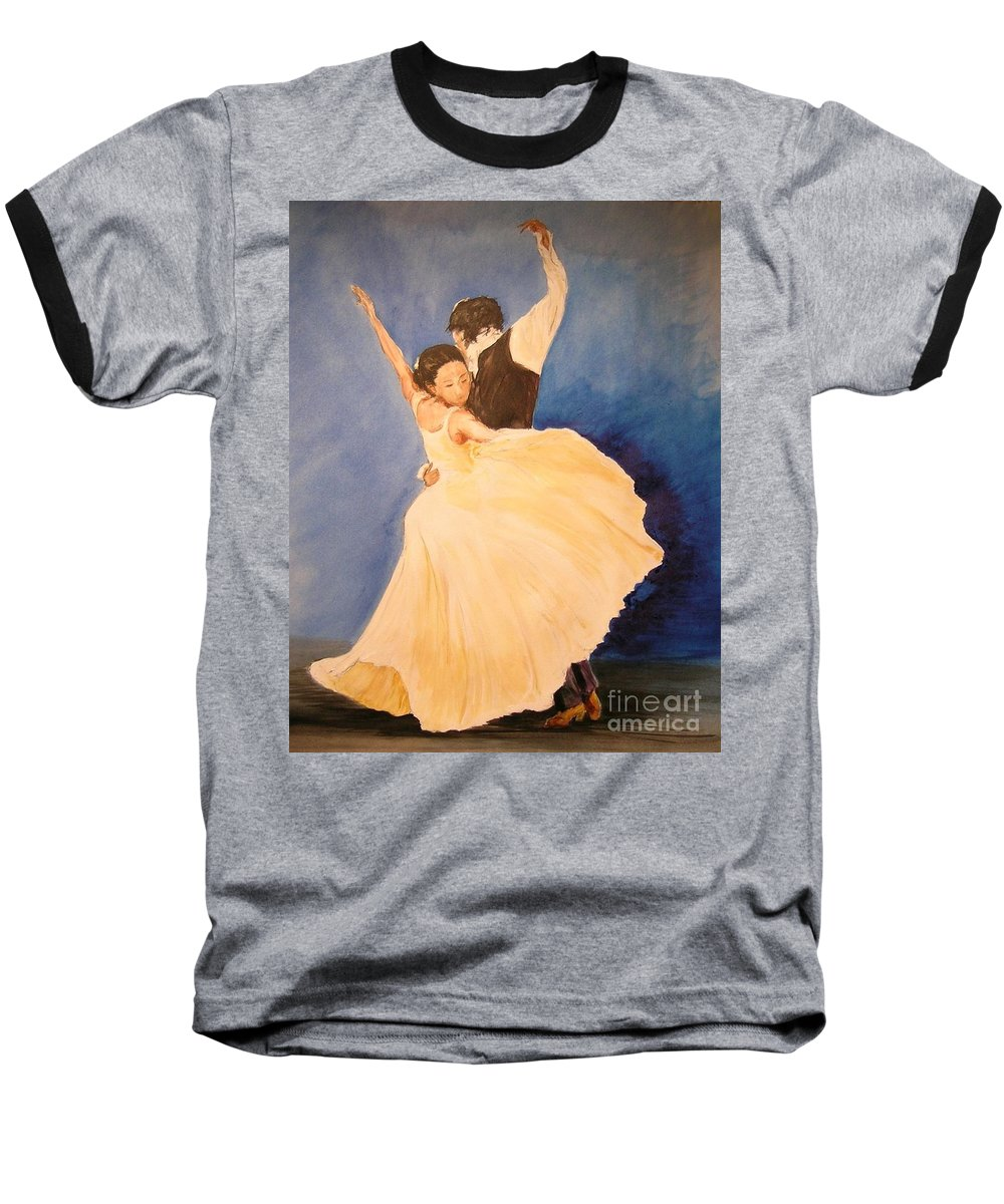 Spain Baseball T-Shirt featuring the painting Pasion Gitana by Lizzy Forrester