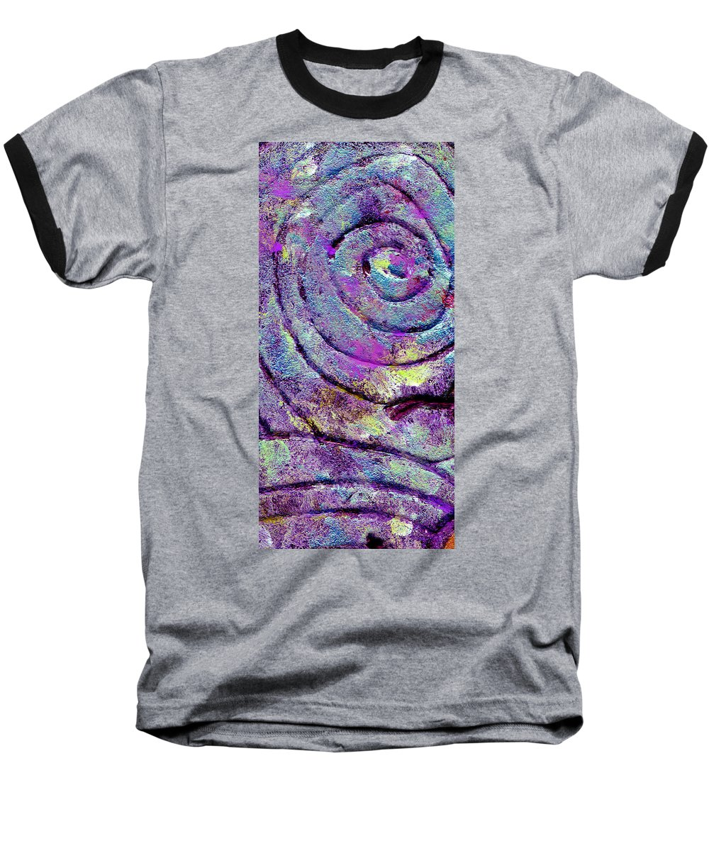 Abstract Baseball T-Shirt featuring the painting Passionate Swirl by Wayne Potrafka