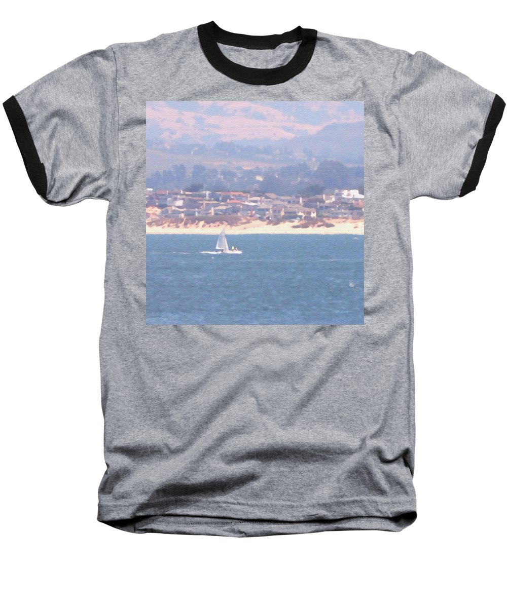 Sailing Baseball T-Shirt featuring the photograph Pastel Sail by Pharris Art