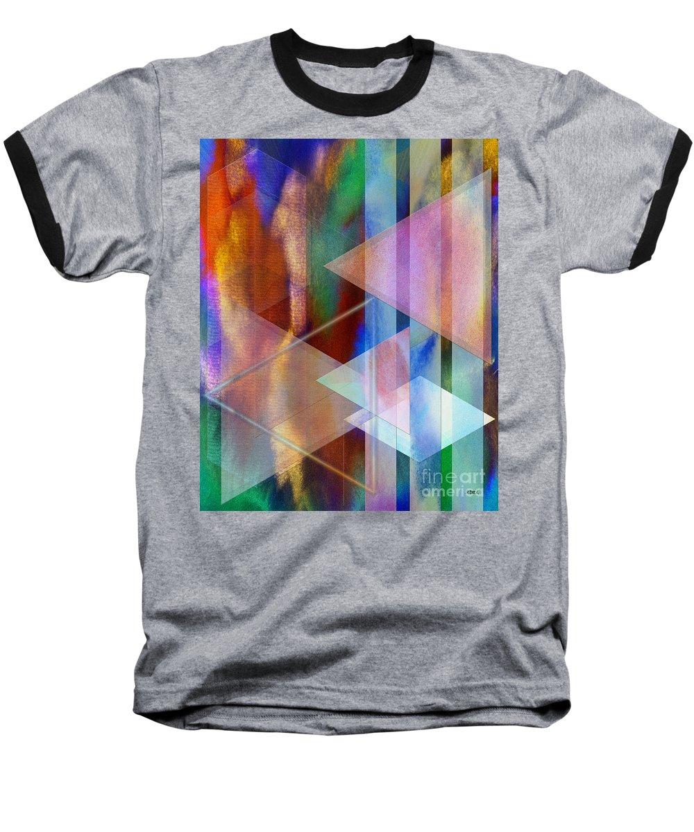 Pastoral Midnight Baseball T-Shirt featuring the digital art Pastoral Midnight by John Beck