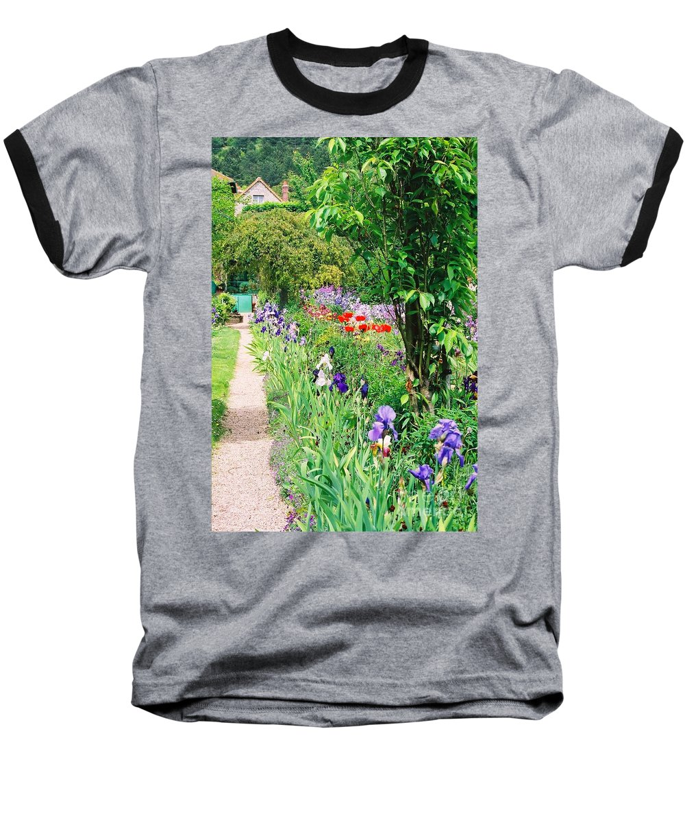 Claude Monet Baseball T-Shirt featuring the photograph Path To Monet's House by Nadine Rippelmeyer