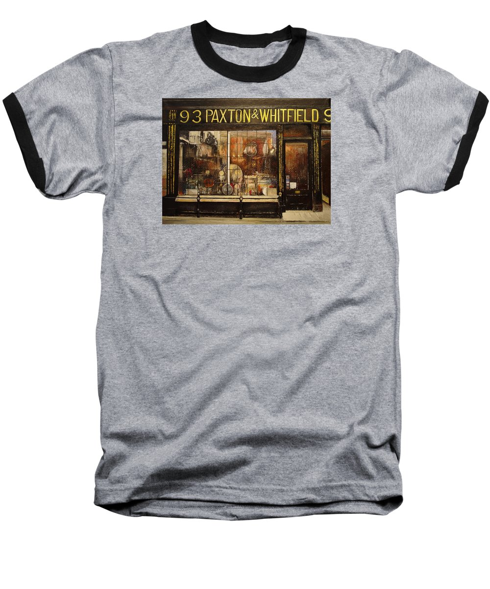 Paxton Baseball T-Shirt featuring the painting Paxton Whitfield .london by Tomas Castano