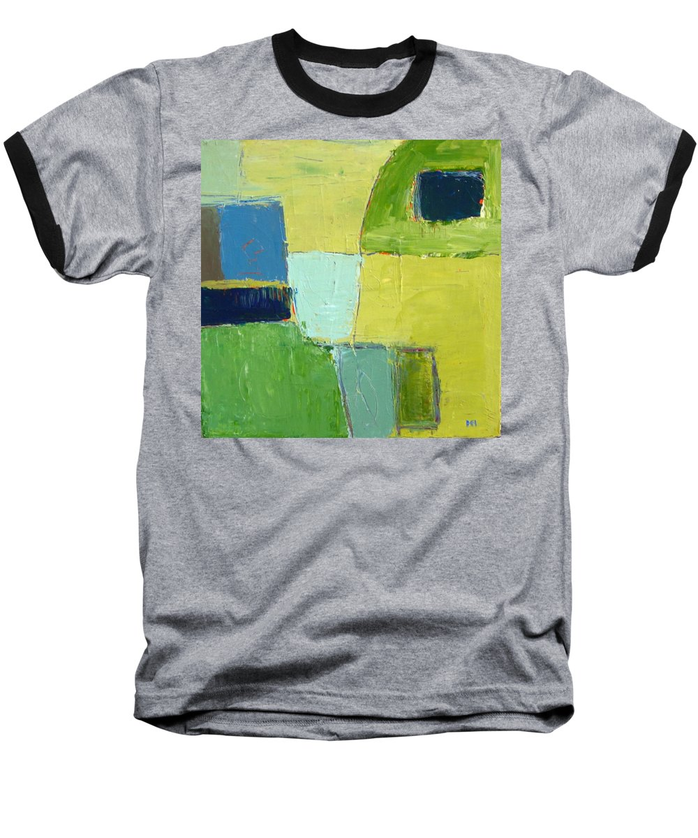 Abstract Baseball T-Shirt featuring the painting Peace 1 by Habib Ayat
