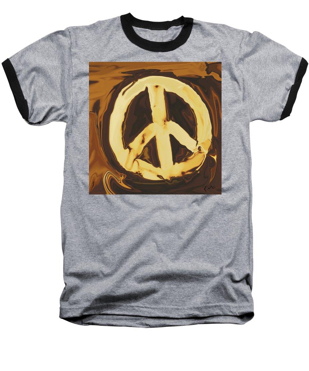 Freedom Baseball T-Shirt featuring the digital art Peace 2 by Rabi Khan