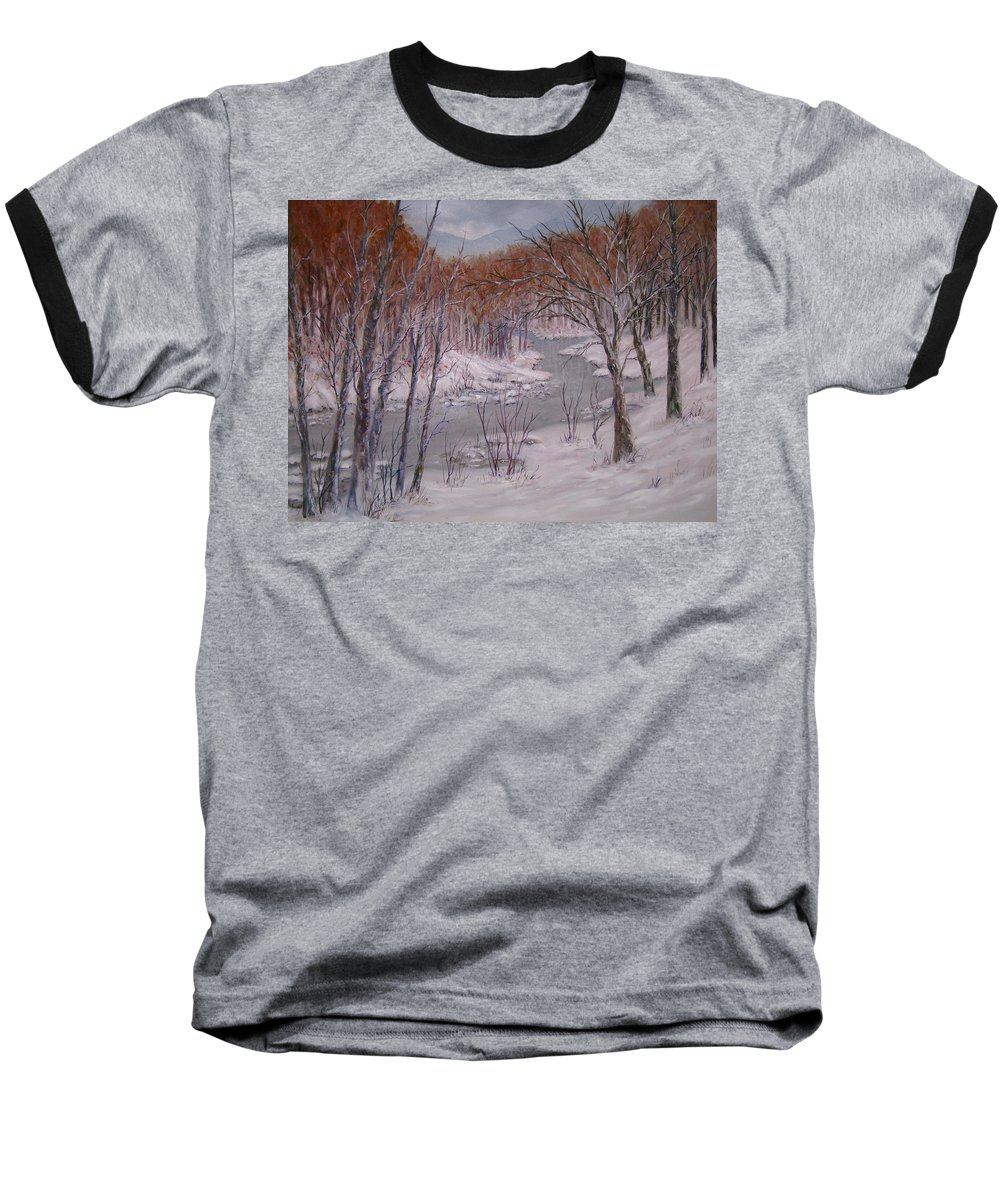 Peace Project Baseball T-Shirt featuring the painting Peace And Quiet by Ben Kiger
