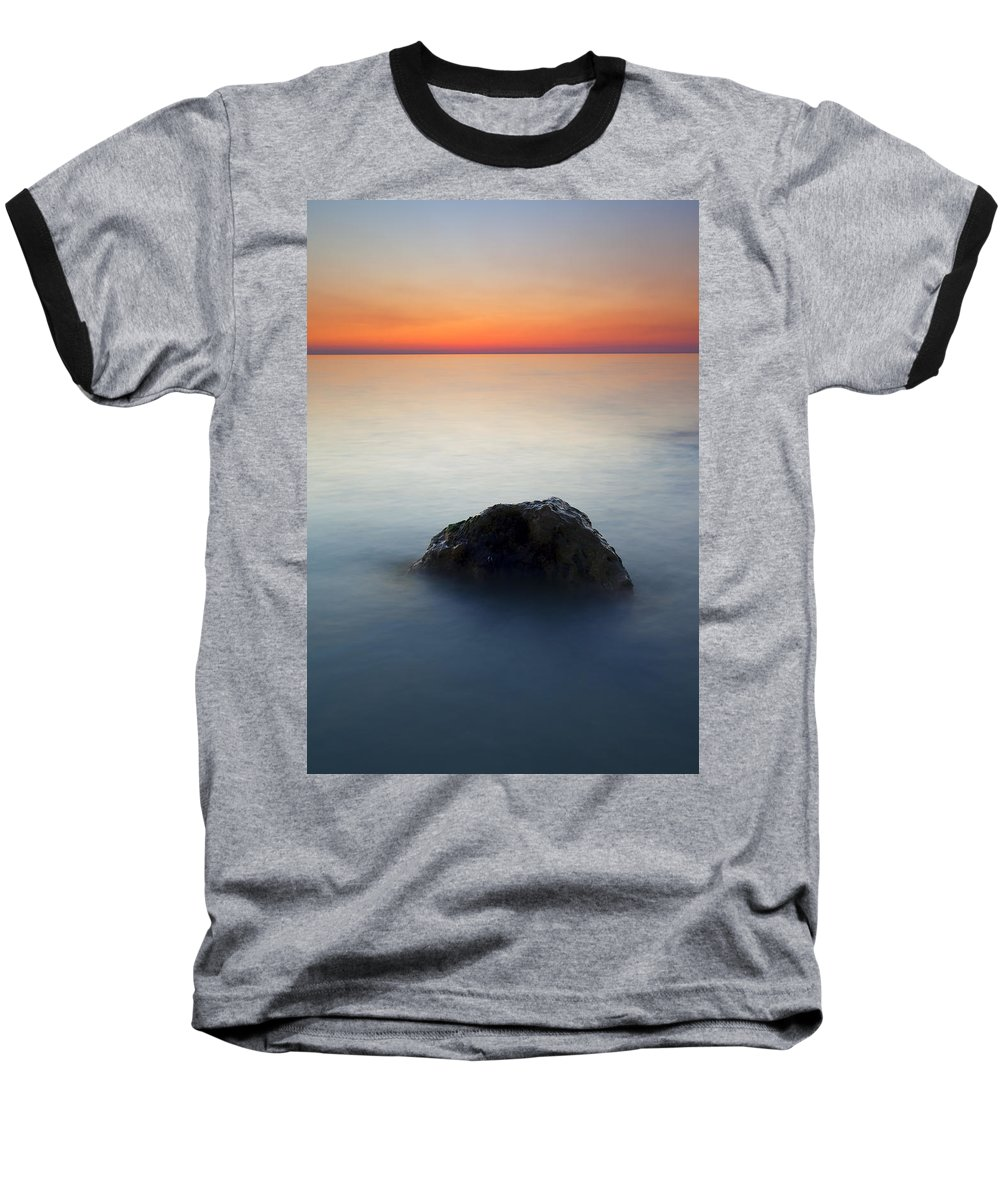 Rock Baseball T-Shirt featuring the photograph Peaceful Isolation by Mike Dawson