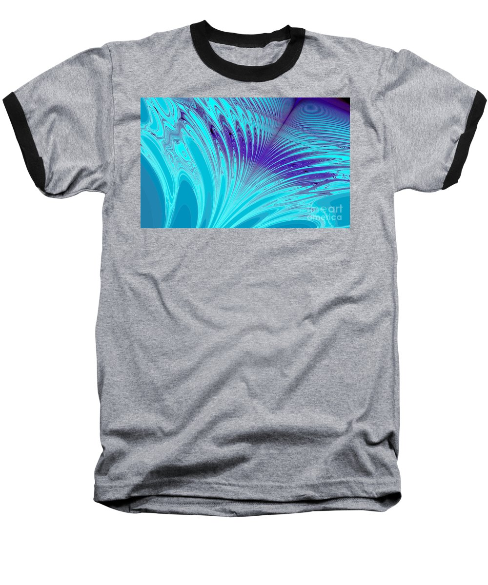 Clay Baseball T-Shirt featuring the digital art Peacock by Clayton Bruster
