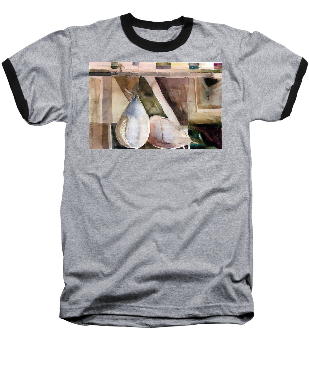 Pear Baseball T-Shirt featuring the painting Pear Study In Watercolor by Mindy Newman