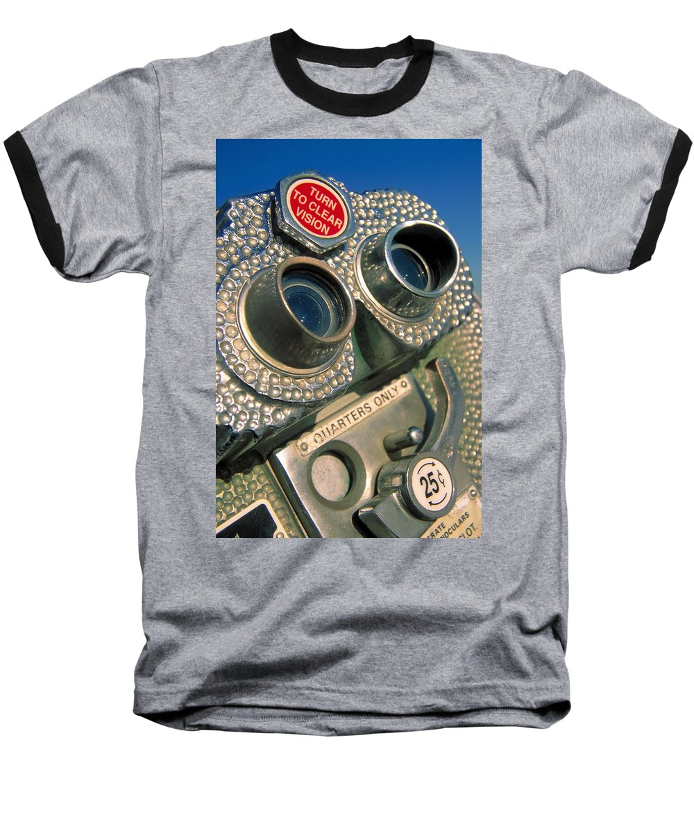 View Baseball T-Shirt featuring the photograph Peep Show by Skip Hunt