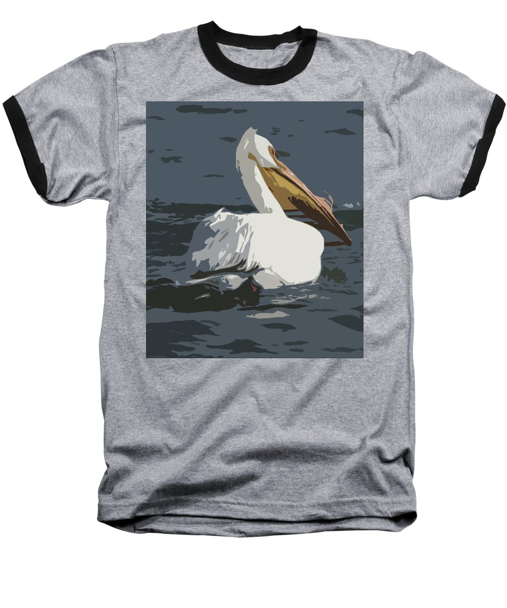 Pelican Baseball T-Shirt featuring the photograph Pelican Cut Out by Heather Coen