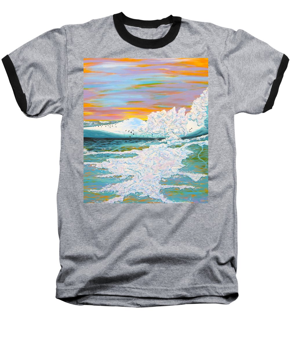 Ice Baseball T-Shirt featuring the painting The Last Iceberg by V Boge