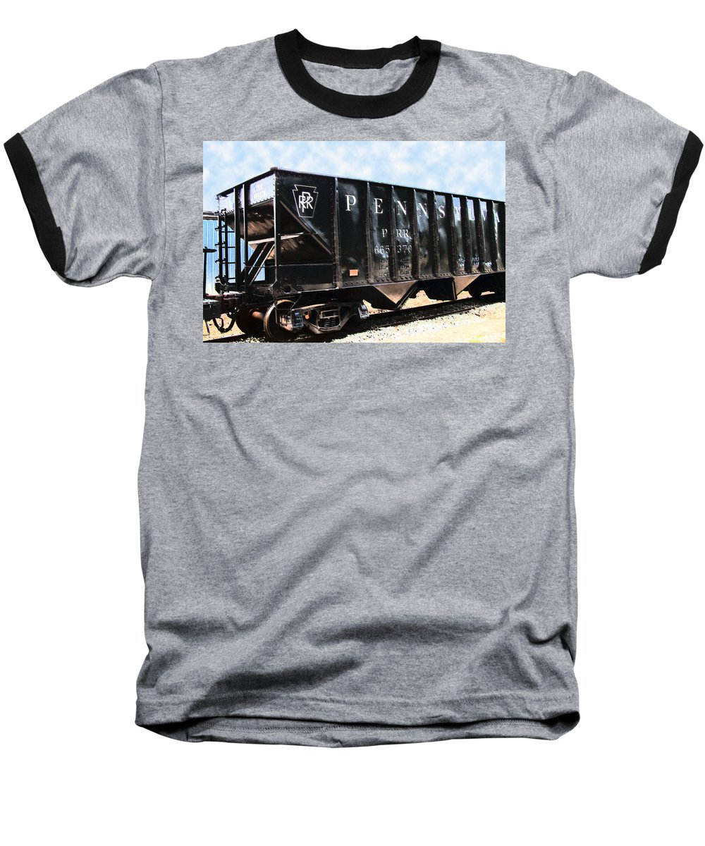 Trains Baseball T-Shirt featuring the photograph Pennsylvania Hopper by RC DeWinter