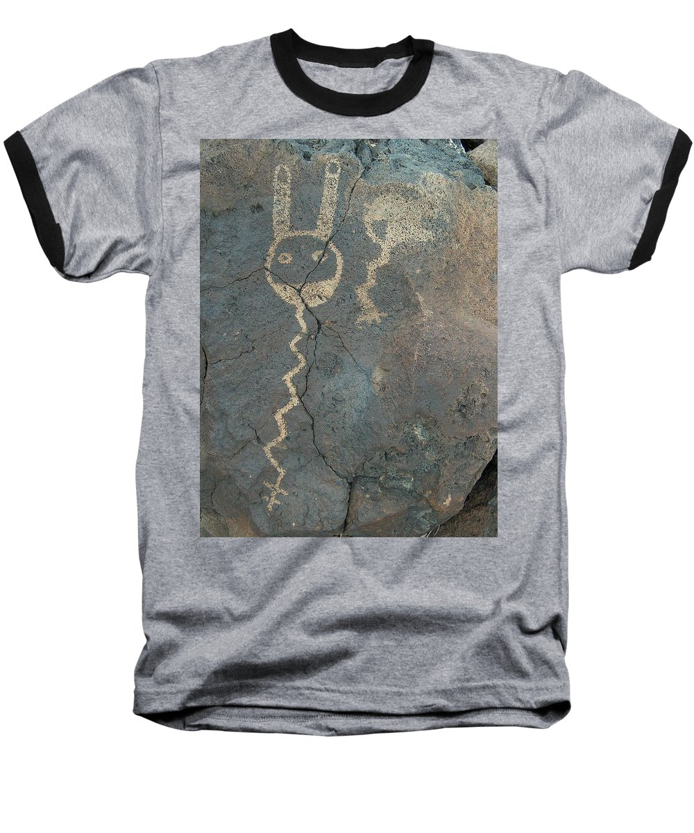 Petroglyph Baseball T-Shirt featuring the photograph Petroglyph Series 1 by Tim McCarthy